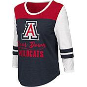 Colosseum Women's Arizona Wildcats Navy ¾ Sleeve Raglan T-Shirt