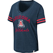 Colosseum Women's Arizona Wildcats Navy Savona V-Neck T-Shirt
