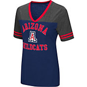 Colosseum Women's Arizona Wildcats Navy/Grey The Whole Package T-Shirt