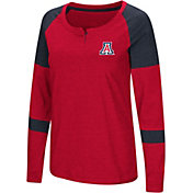 Colosseum Women's Arizona Wildcats Cardinal Dorothy Long Sleeve Raglan T-Shirt
