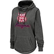 Colosseum Women's Arizona Wildcats Grey Pullover Hoodie