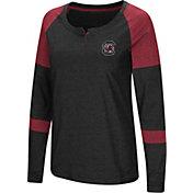 Colosseum Women's South Carolina Gamecocks Dorothy Long Sleeve Raglan Black T-Shirt