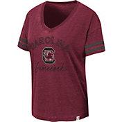 Colosseum Women's South Carolina Gamecocks Garnet Savona V-Neck T-Shirt