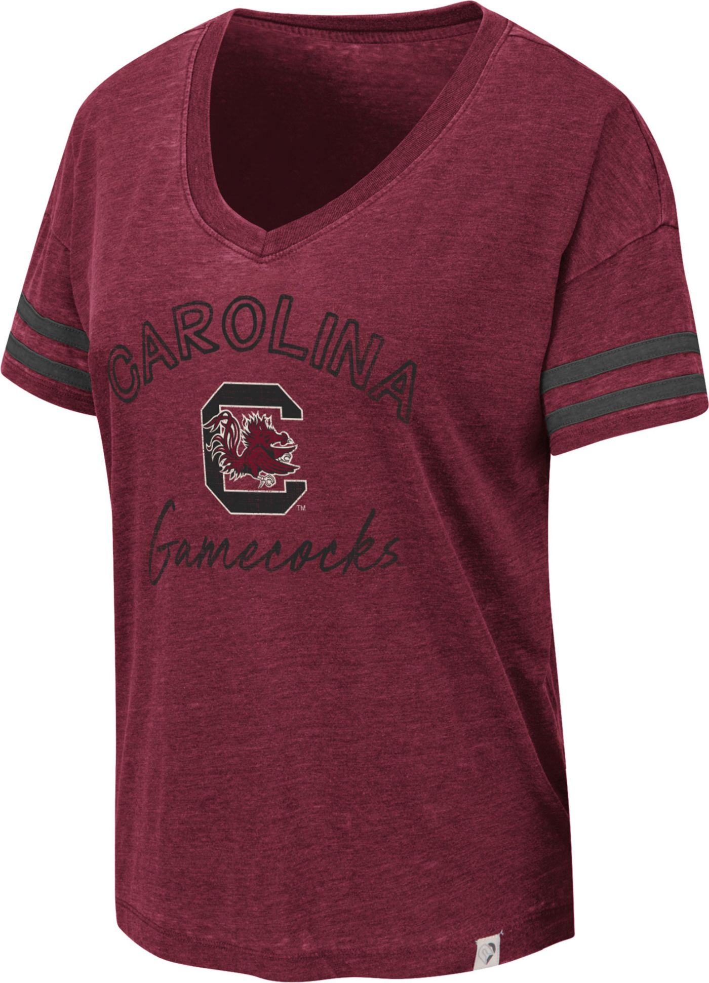 Colosseum Women's South Carolina Gamecocks Garnet Savona V-Neck T-Shirt