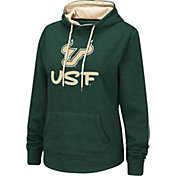 Colosseum Women's South Florida Bulls Green Pullover Hoodie