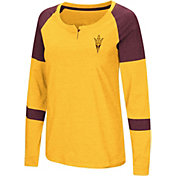 Colosseum Women's Arizona State Sun Devils Gold Dorothy Long Sleeve Raglan T-Shirt