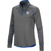 Colosseum Women's Saint Louis Billikens Grey Shark Quarter-Zip Shirt