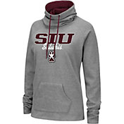 Colosseum Women's Southern Illinois  Salukis Grey Funnel-Neck Pullover Sweatshirt