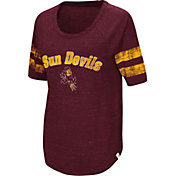 Colosseum Women's Arizona State Sun Devils Maroon Bean Babbitt Raglan T-Shirt