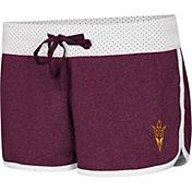 Colosseum Women's Arizona State Sun Devils Maroon/White Racine Belles Reversible Shorts