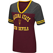 Colosseum Women's Arizona State Sun Devils Maroon/Grey The Whole Package T-Shirt