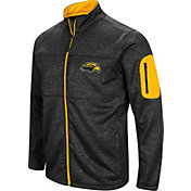 Colosseum Men's Southern Miss Golden Eagles Glacier Full-Zip Black Jacket