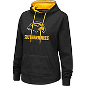 Colosseum Women's Southern Miss Golden Eagles Pullover Black Hoodie