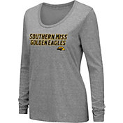 Colosseum Women's Southern Miss Golden Eagles Grey Tri-Blend Long Sleeve T-Shirt