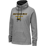 Colosseum Women's Southern Miss Golden Eagles Grey Funnel-Neck Pullover Sweatshirt