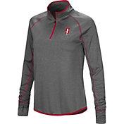 Colosseum Women's Stanford Cardinal Grey Shark Quarter-Zip Shirt