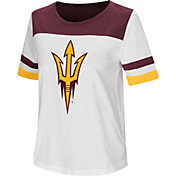 Colosseum Women's Arizona State Sun Devils Show Me The Money White T-Shirt