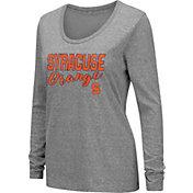 Colosseum Women's Syracuse Orange Grey Tri-Blend Long Sleeve T-Shirt