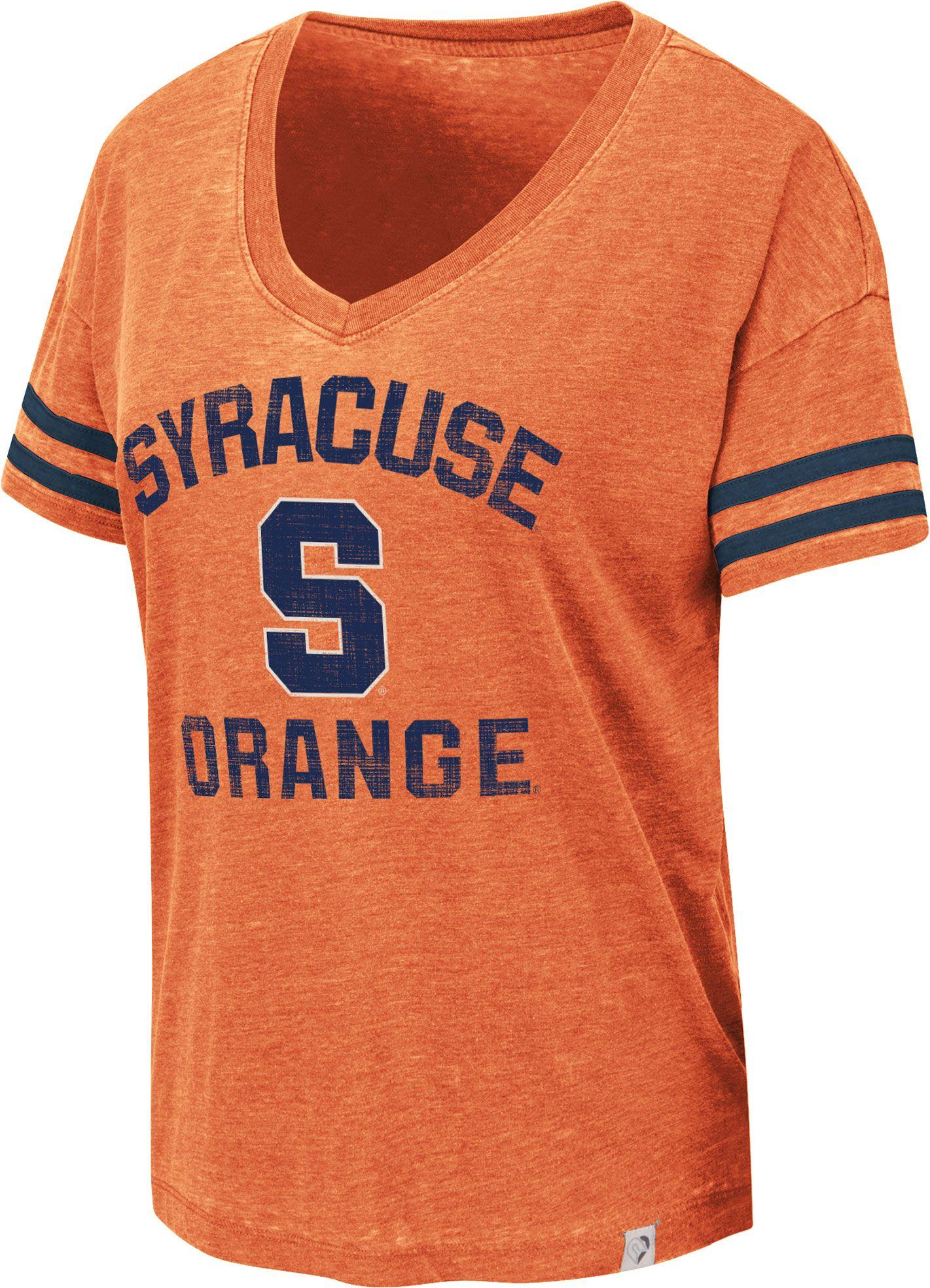 f4a2f66b6e3d5 Colosseum Women's Syracuse Orange Orange Savona V-Neck T-Shirt ...