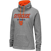 Colosseum Women's Syracuse Orange Grey Funnel-Neck Pullover Sweatshirt
