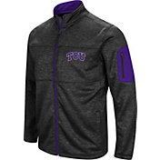 Colosseum Men's TCU Horned Frogs Glacier Full-Zip Black Jacket