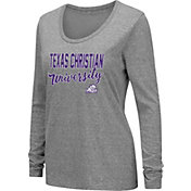 Colosseum Women's TCU Horned Frogs Grey Tri-Blend Long Sleeve T-Shirt