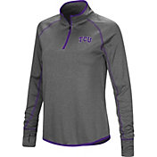 Colosseum Women's TCU Horned Frogs Grey Shark Quarter-Zip Shirt