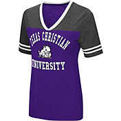 Colosseum Women's TCU Horned Frogs Purple/Grey The Whole Package T-Shirt