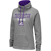 Colosseum Women's TCU Horned Frogs Grey Funnel-Neck Pullover Sweatshirt