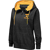 Colosseum Women's Tennessee Volunteers Full-Zip Black Hoodie
