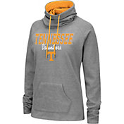 Colosseum Women's Tennessee Volunteers Grey Funnel-Neck Pullover Sweatshirt