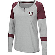 Colosseum Women's Texas A&M Aggies Grey Dorothy Long Sleeve Raglan T-Shirt