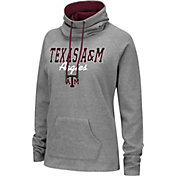 Colosseum Women's Texas A&M Aggies Grey Funnel-Neck Pullover Sweatshirt