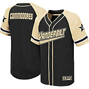 Colosseum Youth Vanderbilt Commodores Wallis Replica Baseball Black Jersey