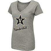 Colosseum Women's Vanderbilt Commodores Grey Dual Blend V-Neck T-Shirt