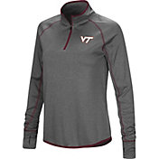 Colosseum Women's Virginia Tech Hokies Grey Shark Quarter-Zip Shirt