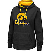 Colosseum Women's Iowa Hawkeyes Pullover Black Hoodie