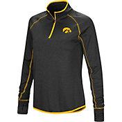 Colosseum Women's Iowa Hawkeyes Shark Quarter-Zip Black Shirt