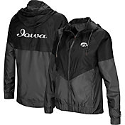 Colosseum Women's Iowa Hawkeyes Black/Grey First Class Windbreaker Jacket