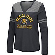 Colosseum Women's Wichita State Shockers Dual Blend V-Neck Black L5T-Shirt