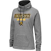 Colosseum Women's Wichita State Shockers Grey Funnel-Neck Pullover Sweatshirt
