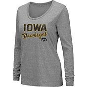 Colosseum Women's Iowa Hawkeyes Grey Tri-Blend Long Sleeve T-Shirt
