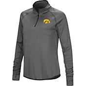 Colosseum Women's Iowa Hawkeyes Grey Shark Quarter-Zip Shirt