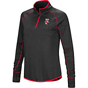 Colosseum Women's Wisconsin Badgers Shark Quarter-Zip Black Shirt