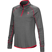 Colosseum Women's Wisconsin Badgers Grey Shark Quarter-Zip Shirt