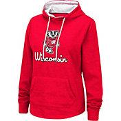 Colosseum Women's Wisconsin Badgers Red Funnel-Neck Pullover Sweatshirt