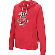 Colosseum Women's Wisconsin Badgers Red I'll Go With You Pullover Hoodie