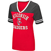 Colosseum Women's Wisconsin Badgers Red/Grey The Whole Package T-Shirt
