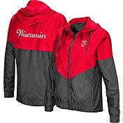 Colosseum Women's Wisconsin Badgers Red/Grey First Class Windbreaker Jacket