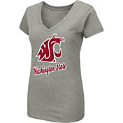 Colosseum Women's Washington State Cougars Grey Dual Blend V-Neck T-Shirt